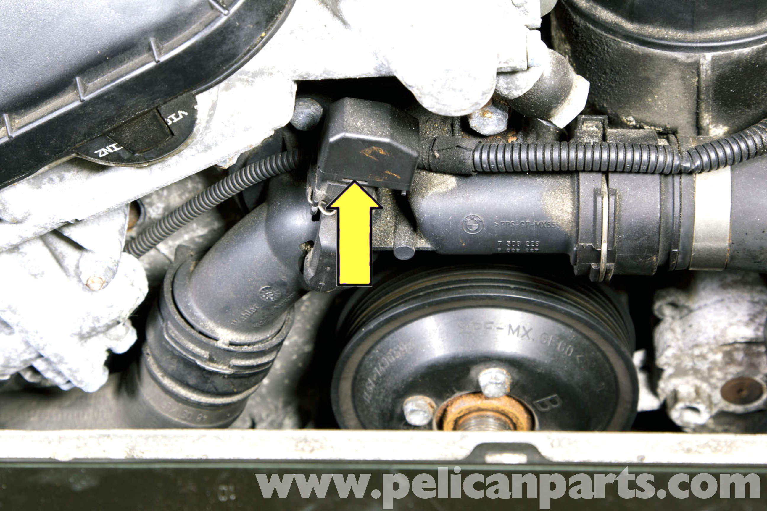 E46 coolant temp sensor location | Engine coolant